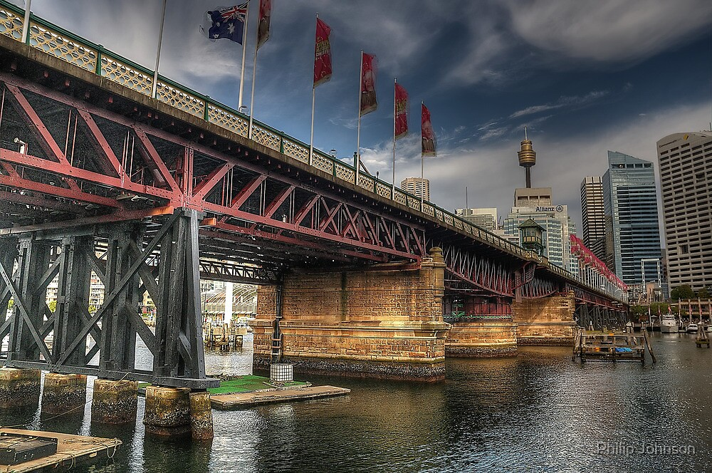 Pyrmont Bridge, Darling Harbour, Sydney - The HDR Experience by Philip Johnson
