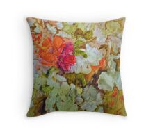 Fantasy Flowers of Imagination Throw Pillow