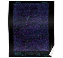 USGS Topo Map Oregon Sterling Creek 281651 1983 24000 Inverted Poster