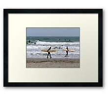 When things get rough, the tough get going! Framed Print