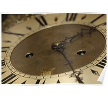 Grandfather clock face Poster