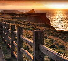 Worm's Head Dusk by Cat Perkinton