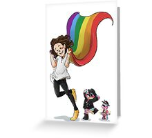Rainbow Hero Greeting Card
