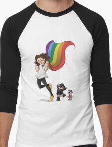 Rainbow Hero Men's Baseball ¾ T-Shirt
