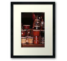 Drum Stack Framed Print