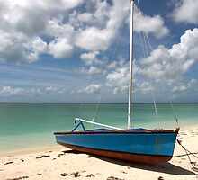 Beached Sailboat, Cat Island, Bahamas by Shane Pinder