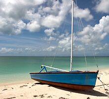 Beached Sailboat, Cat Island, Bahamas by Shane Pinder