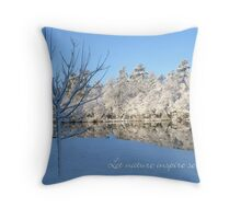 Let nature inspire serenty - a snowscape Throw Pillow