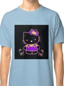 Cute Pink Funny Kitty  Classic T-Shirt