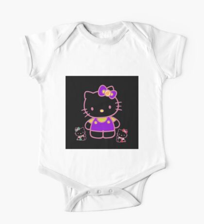 Cute Pink Funny Kitty  One Piece - Short Sleeve