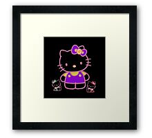 Cute Pink Funny Kitty  Framed Print