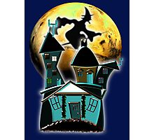 Happy Halloween from the Witch's Condo, T-shirt, etc. design Photographic Print