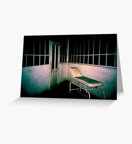 Blue asylom Greeting Card