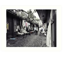 Shopping in Safranbolu. Art Print