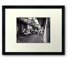 Shopping in Safranbolu. Framed Print