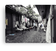 Shopping in Safranbolu. Canvas Print