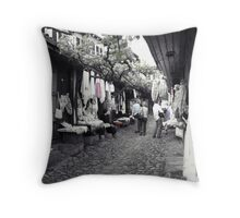 Shopping in Safranbolu. Throw Pillow