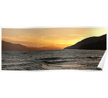 Loch Ness Sunset Poster