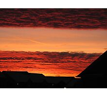 December Sky on Fire - View III Photographic Print
