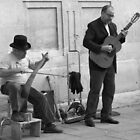 Street Musicians in Avignon by Laurel Talabere