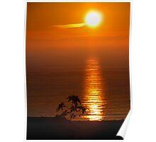 Christmas Eve 2010 Sunset over Newport Beach, CA, USA Poster