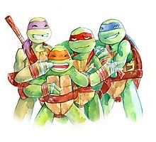 TMNT Watercolor Photographic Print