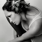 Black & White Flower Girl by Maria del Rio