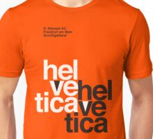 Helvetica T-Shirt - Orange Unisex T-Shirt