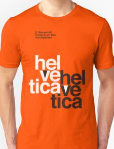 Helvetica T-Shirt - Orange T-Shirt