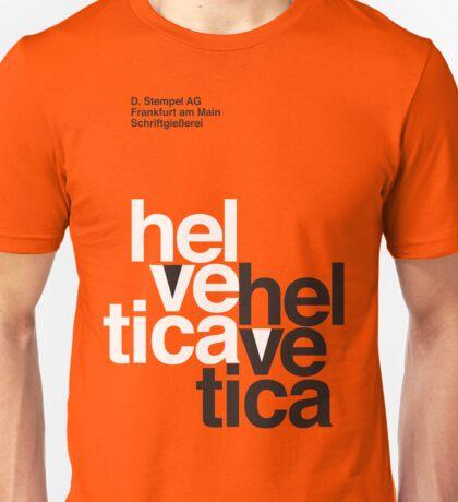 Helvetica T-Shirt - Orange Unisex T-Shirt