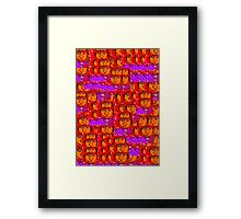 Crowded Commuters Framed Print