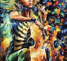Rhapsody - original oil painting on canvas by Leonid Afremov by Leonid  Afremov