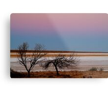 Salt Pan at Dusk, Simpson Desert Metal Print