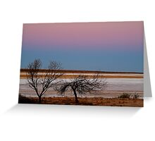 Salt Pan at Dusk, Simpson Desert Greeting Card