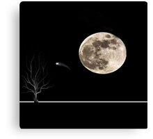werewolf moon Canvas Print