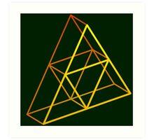 Triforce 3D Gradient Art Print