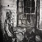 Monoprint, Vermeer by Jacky Burns