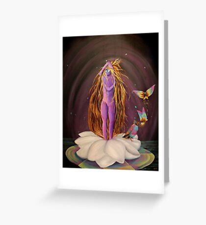 The Birth of Nelumbae Greeting Card
