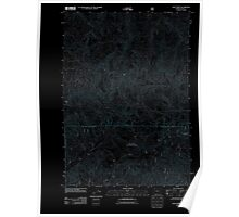 USGS Topo Map Oregon Goat Point 20110811 TM Inverted Poster