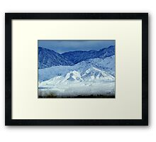 Colors Of Cold Framed Print