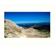 Blue Skies over Dachstein Glaciers Art Print