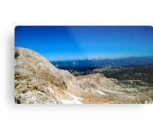 Blue Skies over Dachstein Glaciers Metal Print