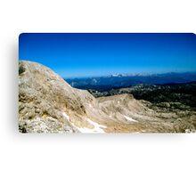 Blue Skies over Dachstein Glaciers Canvas Print