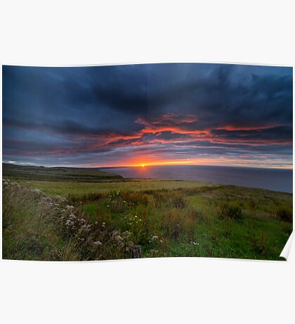Sunrise over the Scottish Highlands Poster