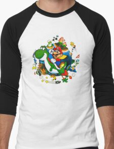 Super Mario World Planet. Men's Baseball ¾ T-Shirt