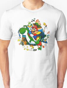 Super Mario World Planet. T-Shirt
