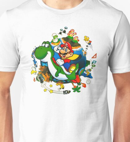 Super Mario World Planet. Unisex T-Shirt