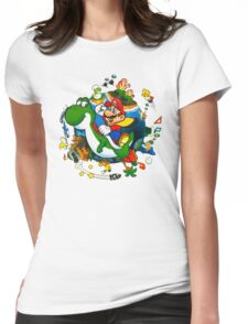 Super Mario World Planet. Womens Fitted T-Shirt