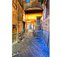 lucca courtyard Photographic Print