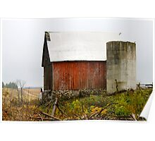 Red Barn on the Farm Poster